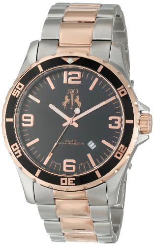 Jivago Men's Swiss Quartz Stainless Steel Casual Watch, Color:Two Tone (Model: JV6118)