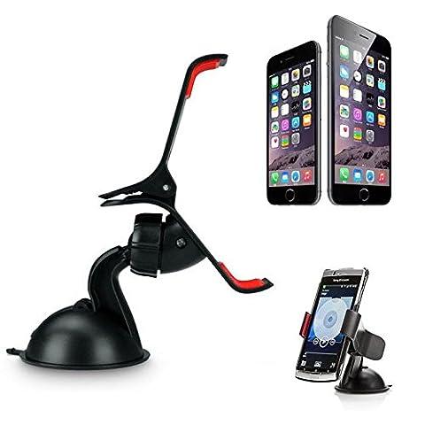 Redcrest (TM) Support de pare-brise voiture Support à pince support rotatif à 360° Support de bureau pour iPhone 4/5/6/6Plus Samsung GPS haute qualité