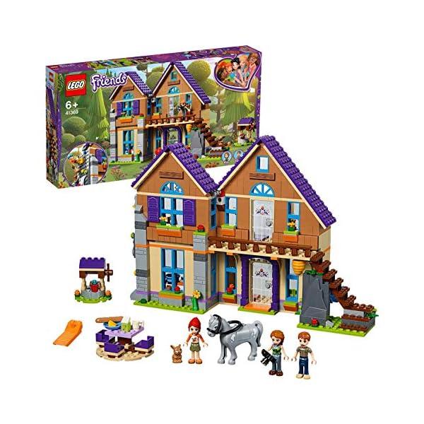 LEGO Friends LaVillettadiMia, 3Mini-doll, Figure del Coniglio e del Cavallo,Casa delle Bambole da Costruire, Giocattoli per Bambini, 41369 1 spesavip
