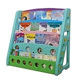 Bücherregale Bücherregal Für Kinder Kinderheim Einfaches Bücherregal Kindergarten Plastik Bücherregal Lagerregal (Color : Blue, Size : 81.5x39.5x80cm)