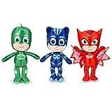 Peluche pupazzo 3 personaggi SUPERPIGIAMINI PJMASKS Gattoboy Geko Gufetta cm. 34 personaggio a scelta