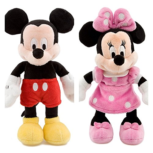 Disney MINNIE MAUS und MICKY MAUS Mini-Bean-Bag Stofftier Plüschtier Set 20cm