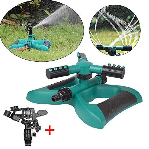 Tensay 360 ° Rasenkreis Rotierender Wassersprenger 3 Düsen Gartenschlauch Bewässerungswerkzeug, Family Courtyard Botanischer Garten Rasensprenger (Rasensprenger Tier)