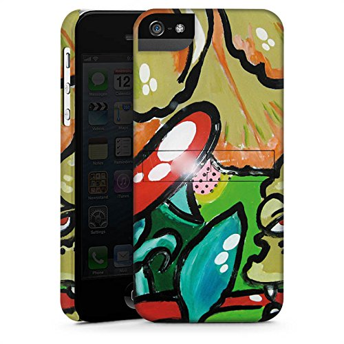 Apple iPhone X Silikon Hülle Case Schutzhülle Blumen Muster Monster Premium Case StandUp