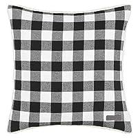 Eddie Bauer Cabin Plaid Square Pillow, 20-inch, Black