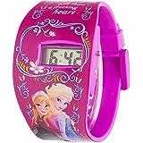 Disney Frozen FROZ2 - Reloj de cuarzo, para niñas, correa de plástico, morado con diseño de Frozen