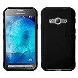 Samsung Galaxy Xcover 3 (2016) Value Edition SM-G389F Étui HCN PHONE S-Line TPU Gel Silicone Coque souple pour Samsung Galaxy Xcover 3 SM-G388F - NOIR