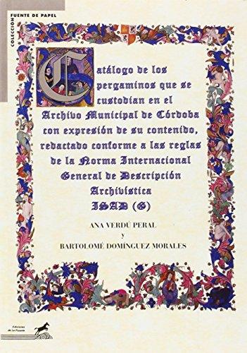 Guía del Archivo Municipal de Córdoba (Fuente de papel) por Ana Verdú Peral