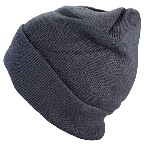 Bonnet homme d'hiver basic flap en in gris