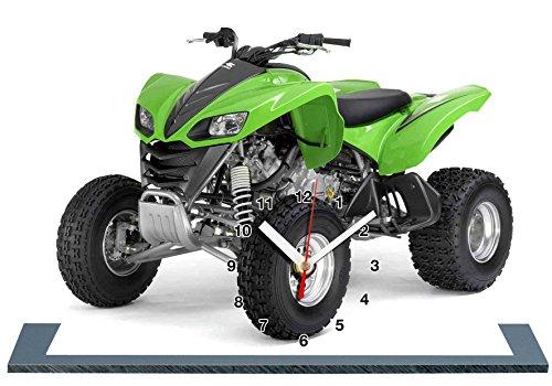 Kawasaki Quad 700 kfx, Miniatur Modell Motorrad in der Uhr 01