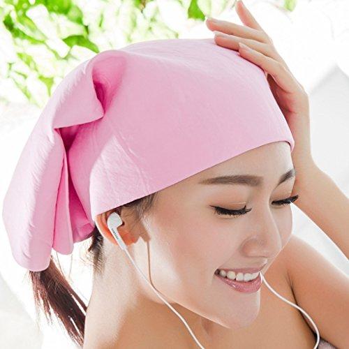 capelli lunghi assorbente cuffia per la doccia ispessimento asciugamano asciugatura rapida ( Colore : Giallo ) Rosa