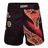 Tatami No Gi Fight Shorts Duelling Snakes - MMA Fight Fitness No Gi Grappling Jiu Jitsu Shorts für Herren Kampfsporthose (L)