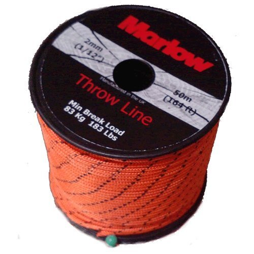 Marlow Throwline Excel von - 50 mtr Länge - 2 mm Durchmesser.