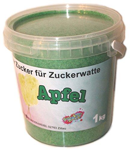 TK-WARENHANDEL 1 Kg Aromazucker Zucker für Zuckerwattemaschinen Apfel