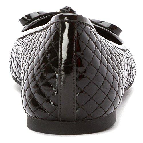 Calvin Klein Daphne Gibson Femmes Cuir verni Mocassin Black