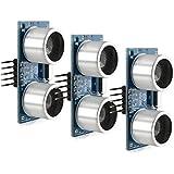 3x Modulo de ultrasonido 4-Pin de kwmobile para Raspberry Pi y Arduino - HC-SR04 sensor telEMÉTRICO