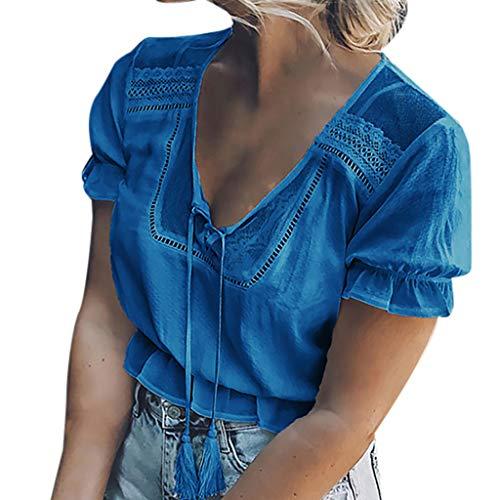 IFOUNDYOU Mode Frauen Casual Tops T-Shirt Lose Top Kurze Ärmel Bluse