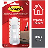 Command Large Utility Hooks for Clothes & Bags, Holds 2.2 kg, No Drilling, Holds Strong, No Wall Damage (1 Hooks, 2 Strips)