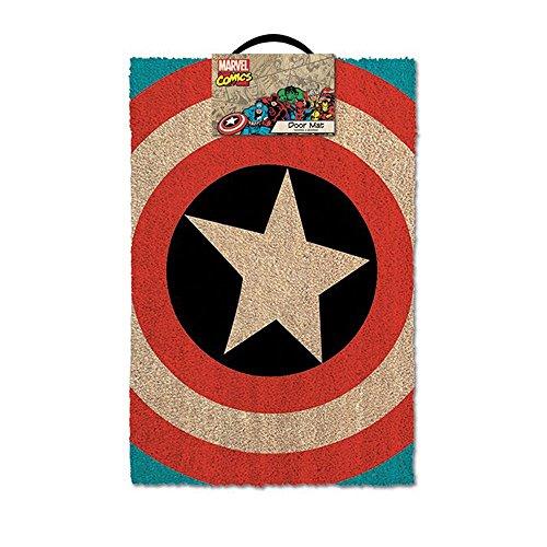 Captain America-Shield-Zerbino, motivo: Marvel, con portachiavi in omaggio