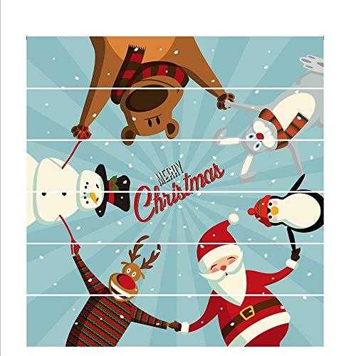 Havanadd Weihnachtsdekorationen Wandaufkleber Mehrfarben gedruckte Innenweihnachtstreppe-Wand-Aufkleber-Dekoration 6PCS Restaurant Café Hotel Home Office Dekor
