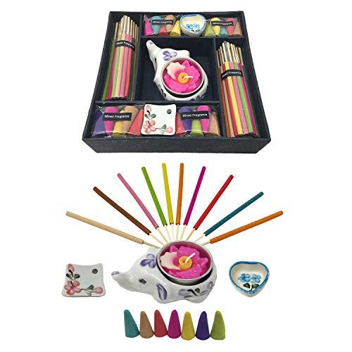 Laeto Home & - Vela Grande de Elefante y Caja de Regalo de Incienso con múltiples Aromas
