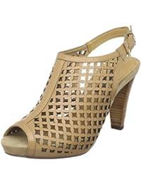Pilar Abril Grazia 08729 - Sandalias de vestir de cuero para mujer