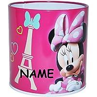 Unbekannt Disney Minnie Mouse - Stiftebox / Stiftehalter / Stifteköcher aus Metall - für Kinder - Stifte Stift - Mädchen Maus Schmetterling - Clubhouse - Schreibtisch Kinderschreibtisch preisvergleich bei kinderzimmerdekopreise.eu