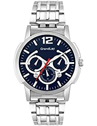 Grandlay mg-3079 blue dial with chronograph watch for menz