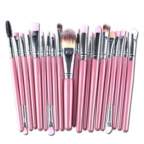 HLHN 20 Pcs Schmink Pinsel Set Brush Set Premium Makeup Brush Set (Rosa)