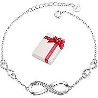 Crazy-m Infinity Armbänder Damen Armband 925 Sterling Silber Funkeln Kubisches Zirkonia Kuss Armband Akzent…