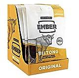 Ember Biltong - Beef Jerky - Original (10 x 30 g) - Britisches und irisches Grassteak. Proteinreicher Biltong Snack - kein gesunder Snack, (Original, 10 x 30 g)