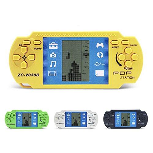 Lottoy Klassische elektronische LCD Tetris Spiel, Vintage Ziegel Handheld Arcade Puzzle Spielzeug, 1 stück zufällige Farbe (Tetris-spiel Handheld)