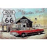 Easy Painter Route 66 Schilder Mother Road Motorrad Reparatur Blechschild, 20 x 30 cm