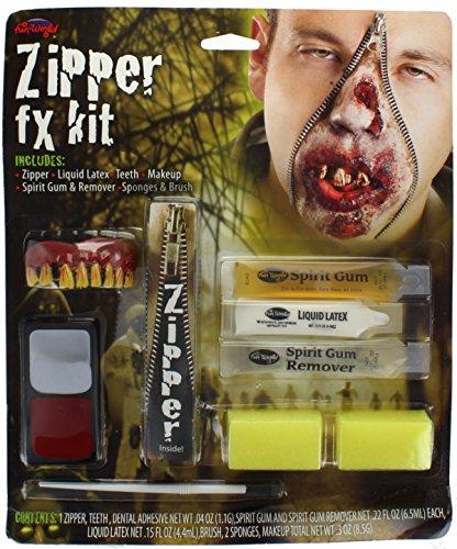 Zombie Reißverschluss für Halloween (Reißverschluss Gesicht Scary Halloween)