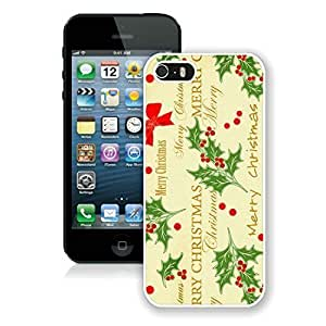 Customized Iphone 5S Protective Case Merry Christmas iPhone 5 5S TPU Case 29 White