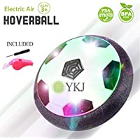 FYKJ Hover Ball Air Power Soccer Disk Kids HoverBall Training Football LED Lights Indoor Outdoor Sports Boys Girls Children Dogs Cats Pets Game Disc Birthday Holiday World Cup Gift