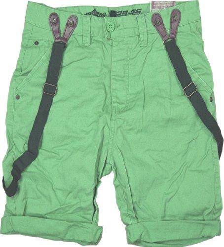 Sublevel et 98–86 chino short bermuda pour homme avec bretelles amovibles Vert