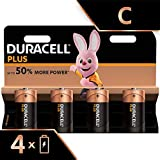 Duracell Plus, lot de 4 piles alcalines Type C 1,5 Volts LR14 MX1400 (visuel non...
