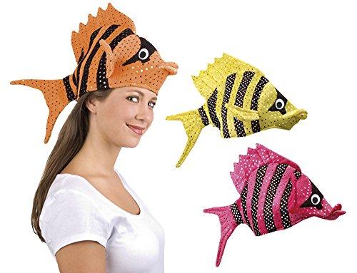 Unbekannt Fisch-Mütze mit Pailletten (gelb)
