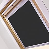 93cm Dark Gray Roof Window Roller Blinds Blackout Blind Sun /& Visual Protection for Velux roof Windows HDM 96 Windows Balcony