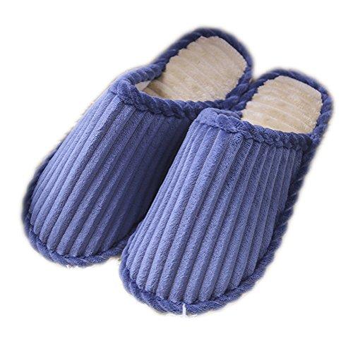 Auspicious beginning I pattini respirabili della casa delle pantofole accattivanti di colore della caramella delle donne calde coprono i pattini dell'interno Blu scuro