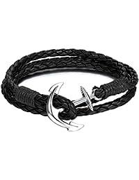 Bracelet–Bracelet Noir + Livraison Gratuite | Bracelet | Ancre noir–Bracelet noir–Accessoire Bracelet–Chaîne pour homme et femme