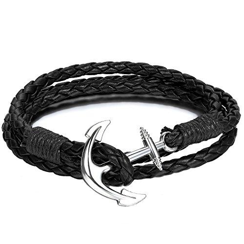 Armband | Schwarz Arm Band | Anker schwarzes Accessoire | Kette für Herren und Damen (schwarz) | Beyond Dreams