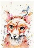 Poster 50 x 70 cm: Kleiner Fuchs von Sillier Than Sally - hochwertiger Kunstdruck, Kunstposter