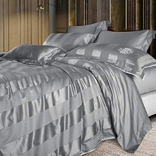 HSBAIS Hotel Lujo 140 Raso algodón Ropa Cama edredón