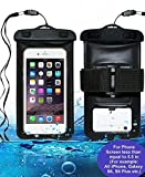 GEREE custodia universale impermeabile con bracciale e laccio da collo per iPhone 6s 6 Plus 5S Galaxy S6 Edge note 4 iPod Touch MOTO da 5.5 pollici in diagonale certificazione IPX6 impermeabilità testata fino a 10 m sott'acqua.