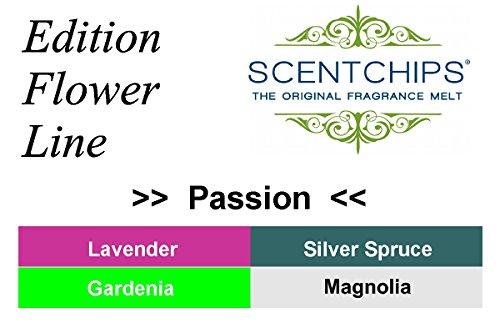 """Duftwachs Scentchips """"Passion"""" l 12 Teile FesteFeiern Edition Flower Line Sommer l Aromen für Duftlampe Aromalampe Diffuser (Duft Diffuser öl Gardenia)"""