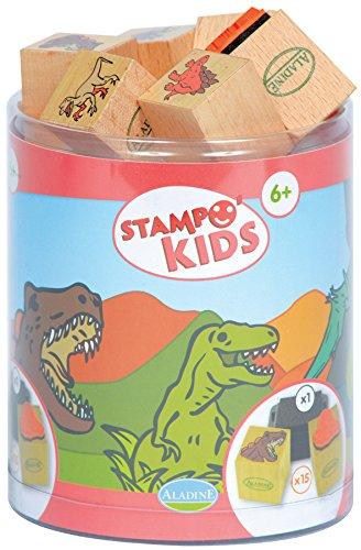 aladine-3308-stampominos-lote-de-sellos-de-madera-y-tampon-para-decorar-diseno-de-dinosaurios