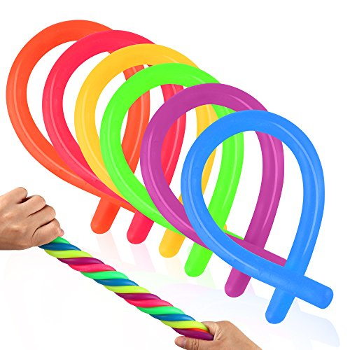 Coogam 6 Pack Stretchy String Sensory Spielzeug - Stress abzubauen, und Erhöhen Sie die Geduld, Pull - Gut für Kinder mit ads, Adhs Oder Autismus, und Erwachsene zu stärken, 11
