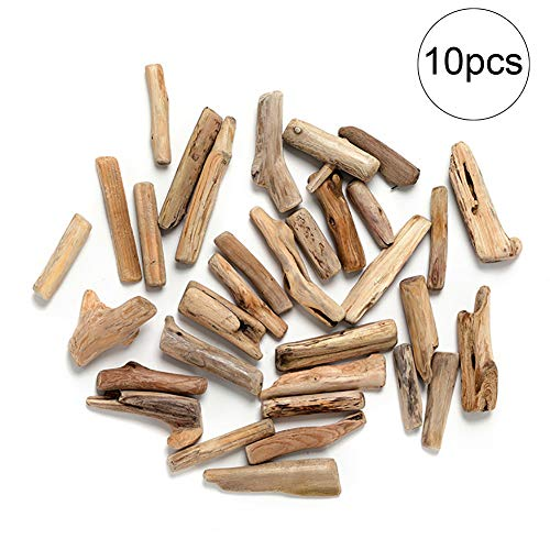 Domire 10 Stück Natural Wood Stick Mini Holzstücke für Aquarium Dekoration Aquarium Pflanzen Aquarium Zubehör (Block) (Aquarium Zubehör Holz)